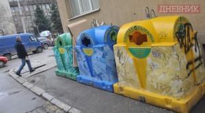 """рганизациите за оползотворяване на отпадъците в София имат срок до края на следващата година, за да използват само контейнери тип """"иглу"""" Фотограф: Георги Кожухаров Дневник"""