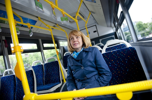 Първият в Европа електробус тръгна в София. Снимки- БГНЕС
